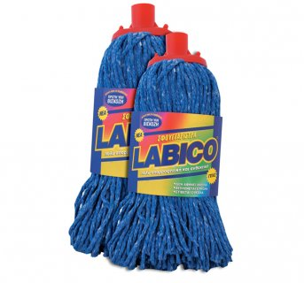 Blue yarn mop Labico