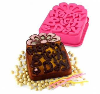 Cake silicon mould Happy Birthday