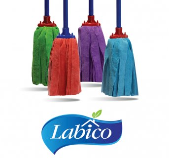 Microfiber mop with stripes large Labico