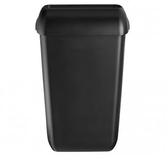 Plastic black bin for floor and wall 23lt