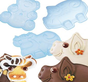 Silicon mould Set of 3 Animals