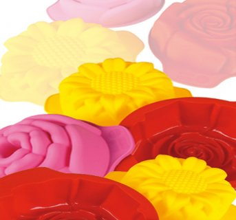 Silicon mould Set of 3 Flowers