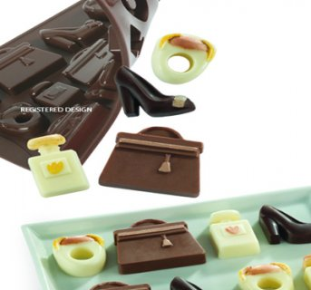 Silicone mould fashion accesories Chocofashion